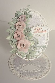 AdaBlog, Easel card with paper flowers