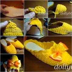 Si te gusta hacer ganchillo, usted debe tratar este proyecto de bricolaje para hacer un par de bonitas zapatillas de casa de crochet.
