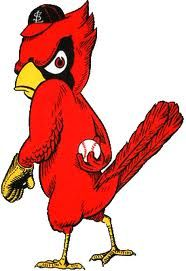 Old School baby - I remember this was on the popcorn holders when I was a kid! St. Louis Cardinals