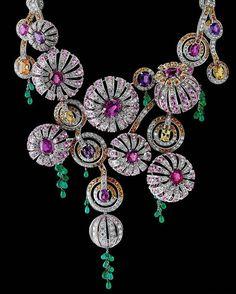 @eduard_grygorian_boucheron. Boucheron high jewelry sapphires and diamonds necklace