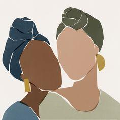 illustration line art graphics \ illustration line art ` illustration line art graphics ` illustration line art simple Art And Illustration, Photography Illustration, Portrait Illustration, Black Girl Art, Art Girl, Arte Sketchbook, Minimalist Art, African Art, African Beauty