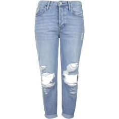 TOPSHOP PETITE MOTO Mid-Stone Hayden Jeans (865 UYU) ❤ liked on Polyvore featuring jeans, pants, bottoms, trousers, mid stone, petite, petite boyfriend jeans, blue jeans, boyfriend fit jeans and blue boyfriend jeans