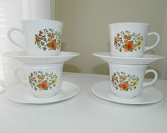 Corelle Indian Summer Cups and Saucers