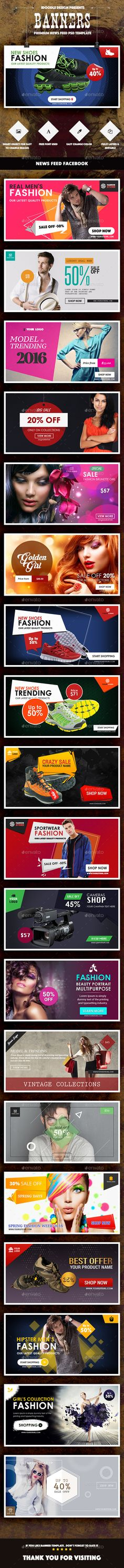 20 Facebook News Feed Product Banners Template - Download Here : http://graphicriver.net/item/news-feed-product-banners-ads-20-psd/14334263?ref=yinkira