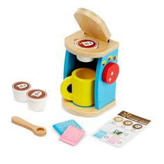 Melissa & Doug Let's Play House Brew & Serve Coffee Set<br><br>In 1989 The Melissa & Doug Company started in the garage of the home where Doug grew up! Thanks to your support, the Melissa & Doug Company grew and was able to move into a real office down the road. Their philosophy has remained the same over the years-to make each and every customer a happy and permanent member of the Melissa & Doug family, while offering products with tremendous value, quality and design. Melissa & Doug have…