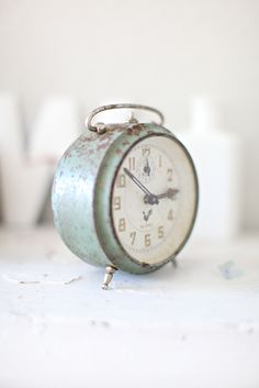 Green Vintage French Alarm Clock More pins under www.supondo.com