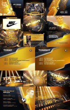 Balls Channel Re-Imaging 2014 bei Behance - Sport Design - Sport Gfx Design, Graph Design, Motion Graphs, Photoshop Course, Channel, Sports Graphics, Event Flyer Templates, Design Language, Screen Design