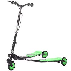 Merax Kids 3 Wheels Foldable Swing Dragon Tri Scooter Winged Push Motion BlackGreen *** Check out this great product. Tri Scooter, 3 Wheel Scooter, Best Scooter For Kids, Kids Scooter, Scooter Store, 3rd Wheel, Sports Toys, How To Memorize Things, Dragon