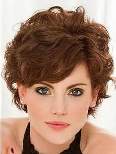 Short Curly Hairstyles with Bangs - reference for when I want to cut my hair short again!!