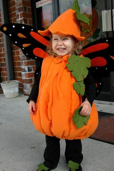 Pumpkin fairy costume  sc 1 st  Pinterest & Wicked Craft Week: Handmade Kidu0027s Pumpkin Costume with K from Cozy ...
