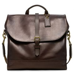 The Bleecker Leather Pannier Bag from Coach