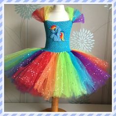 5f9b11aa6cad Sparkly Rainbow Dash Tutu Dress. Inspired by DiddyDarlings on Etsy Tutu  Outfits