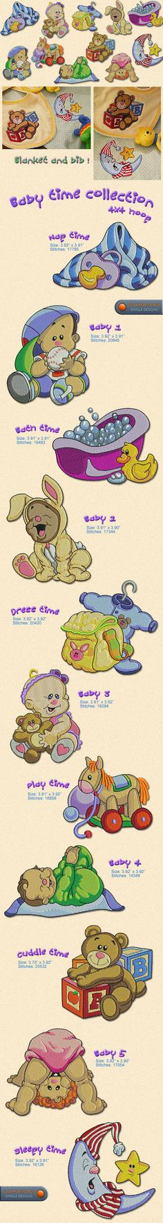 Baby time Embroidery Designs Free Embroidery Design Patterns Applique