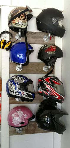 Jim's Helmet rack
