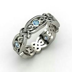 Celtic ring w stone that looks like my birthstone