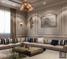 Home Design Living Room, Elegant Living Room, Living Room Decor, Home Entrance Decor, Floor Seating, Home Goods Decor, House Rooms, Home Interior Design, Behance