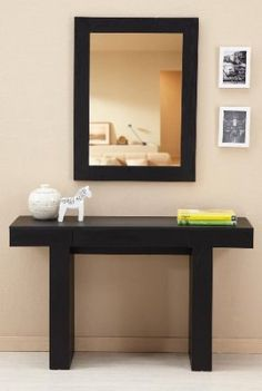 Amazon.com: Enitial Lab Fayth Console Table with Drawer, Black: Home & Kitchen