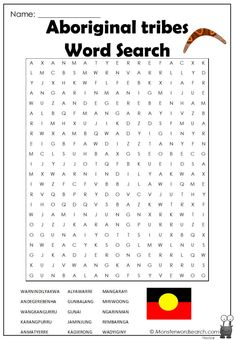 nice Aboriginal tribes Word Search