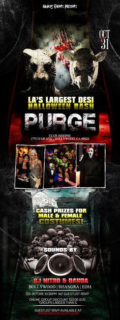 #LA's #Largest #Desi #Halloween Bash - Purge 2014...