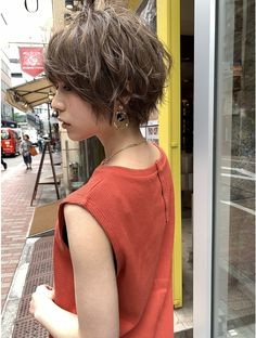 Pin on 髪型 Messy Pixie Haircut, Shaggy Short Hair, Messy Short Hair, Haircut For Thick Hair, Short Hair With Layers, Short Hair Cuts, Shot Hair Styles, Hair And Beard Styles, Curly Hair Styles