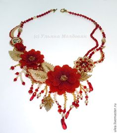 Flame Flowers necklace, part of a set by Ulyana Moldovyan