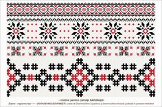 Semne Cusute: traditional romanian motifs - MOLDOVA - Iasi, sat: Tutora Folk Embroidery, Cross Stitch Embroidery, Embroidery Patterns, Cross Stitch Patterns, Knitting Patterns, Moldova, Beading Patterns, Pixel Art, Adobe Illustrator
