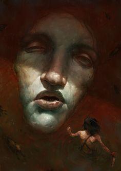 Fallen giant, Blaz Porenta on ArtStation at https://www.artstation.com/artwork/9211a