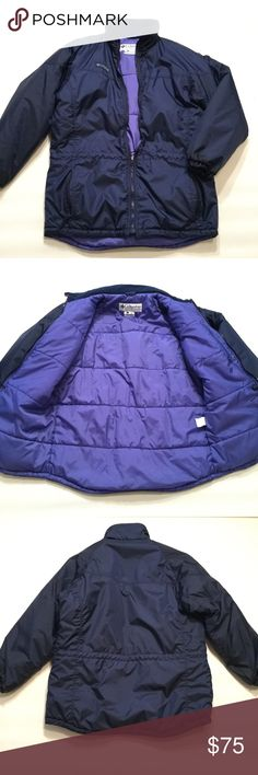 "Columbia Winter Jacket Size small. Loose fit. Length approx 30.5"". Arm length approx 25.5"". Nylon/ Polyester. Insulated. Adjustable Cord drawstring on waist. Columbia Jackets & Coats"