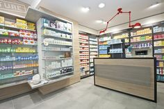 Find high quality retail farmacia shop interior design here from MOOKOO which is one of the leading Pharmacy Shop Display manufacturers and suppliers in China. 3d Interior Design, Interior Design Services, Saint Macaire, Retail Architecture, Store Layout, Counter Design, Wall Mounted Shelves, Retail Interior, Retail Design