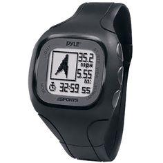 Pyle-Sports PSWGP405BK GPS Watch Running Gps, Running Watch, Running Training, Car Tracking Device, Gps Tracking, Tracking Devices, Gps Sports Watch, Heart Rate Monitor, Gps Navigation