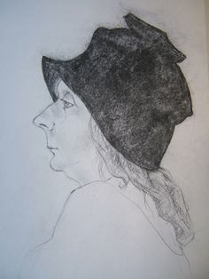 A personal favorite from my Etsy shop https://www.etsy.com/listing/173300432/hat-lady-from-art-school-possibly-gentle