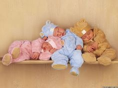 Sweet babies sleeping together