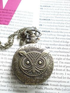SALE30OFFBronze Owl  Pocket Watch Steampunk by pyramidboutique, $5.99