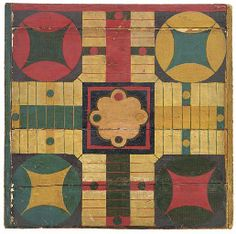 Parcheesi board c.late 19th - early 20th cent.