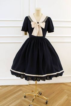 navy/nautical lolita dress: