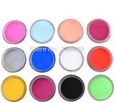 Escultura acrílico pó líquido Glitter Nail Art Tool Kit UV poeira Gem ferramentas unhas UV unhas decoração Kit alishoppbrasil