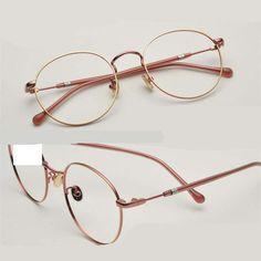52354c68f 2018 Luz Óptica Óculos de Armação De Metal Mulheres Homens Moda Miopia  Óculos Frames Oculos de grau Femininos Do Vintage Óculos YJ784