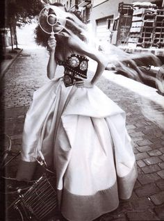 Vogue Italia September 1992 (Couture Supplement) Gipsy Couture (Couture Supplement) Photo Steven Meisel  Editor Lori Goldstein  Models Meghan Douglas, Susan Holmes & Kristen McMenamy Hair Garren  Makeup Denise Markey