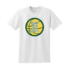 Bring Back the Sonics Shirt - Seattle Washington Tourist Travel Tee Shirt  #Handmade #BasicTee