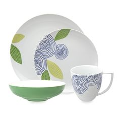 Nikko Artist Floral 4-Piece Porcelain Place Setting