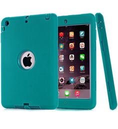 iPad Mini 3 Case,iPad Mini 2 Case,iPad Mini 1 Case,DIOS CASE(TM) Heavy Duty Hard PC   Soft Silicone 3 in 1 Shockproof Impact Resistant Protective Cover for Apple iPad Mini 1/2/3 (Mint Green) ** Visit the image link more details.