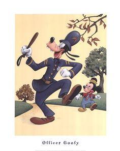Officer Goofy by Walt Disney
