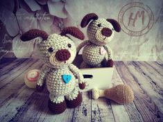 Hand Knitted Home Decor Amigurumi Puppies Stuffed Toys (Dolls) Best Toys Gifts Toy Puppies, Cute Puppies, Doll Toys, Dolls, Stuffed Toys, Baby Knitting, Teddy Bear, Cool Stuff, Awesome
