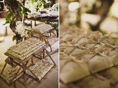 Mesa de doces bem casado casamento na praia festa (Decoração: Valéria Leão Bittar   Foto: Marina Lomar)
