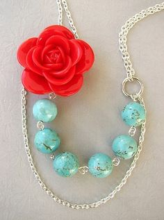 More coral and turquoise!
