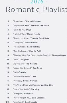 Song list romance learning go musicsongs song list romance list romance song trendy wedding songs playlist father daughter ideas Love Songs For Him, Best Love Songs, Good Vibe Songs, Songs About Love, Best Music, Slow Love Songs, Best Songs List, Music Lyrics, Music Quotes