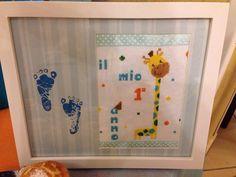 Giraffa a punto croce per il 1° bday del mio baby boy!
