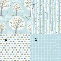 "Baby Boy Crib Bedding Birch Trees ""Backyard Baby"" Theme Custom Set. $150.00, via Etsy."
