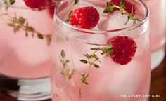 Raspberry Lemonade Punch-dress the recipe up with champagne!