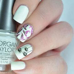 Morgan Taylor Dia de los Muertos Spider Witch Halloween Nail Art